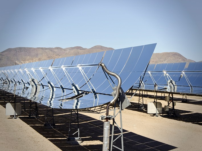 Solar Power Plant Collector Contentslider